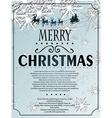 Snowlfake christmas background vector
