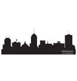 Fresno california skyline detailed silhouette vector