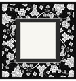 Frame of flower on black background vector