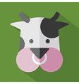 Modern flat design cow icon vector