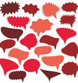 Blank empty red speech bubbles set on white vector