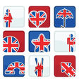 Great britain icons vector