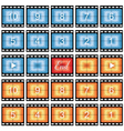 Film strip stills vector