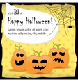 Halloween party invitation card with pumpkins vector