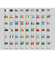 African countries flags vector