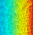 Abstract rainbow polygonal vector