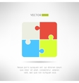 Two on two puzzle icon riddle concept vector