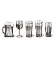 Drinks logo design template glasses or vector