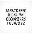 Hand drawn grunge font vector