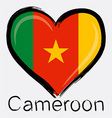 Love cameroon flag vector