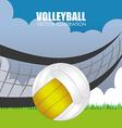 Sport design over landscape background vector