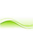 Green wave background with lines vector