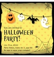 Halloween party invitation card with ghostbat vector