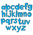 Letters of the alphabet in blue color vector