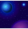 Space planets and stars vector