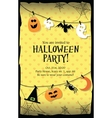 Halloween party invitation card long vector