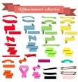 Collection of ribbons and banners vector