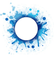 Abstract blue background with blob and bubble vector