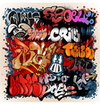 Graffiti street art background vector