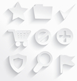 White internet icons star vector