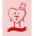 Cute cartoon heart background vector