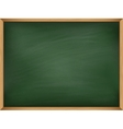 Empty green chalkboard with wooden frame template vector