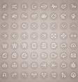 Stroke arrow round icons set vector