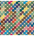 Seamless texture of the circles retro color vector