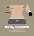 Perform acupuncture graphic vector