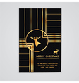 Christmas invitation card - art deco style vector