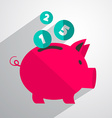 Money pig bank vector