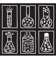 Set of chemical test tubes vector