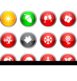 Seasons round icons vector