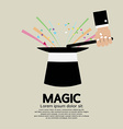 Magic trick of the magician vector