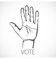 Voting vote finger india hand concept indian vector