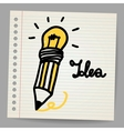 Light bulb pencil and good idea vector