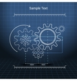 Gears technical drawing vector