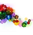 Transparent flower background vector