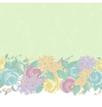 Seamless floral border with wildflowers vector