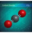Co2 molecules vector