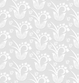 Seamless pattern background - white flowers vector