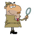 Hispanic cartoon detective man vector