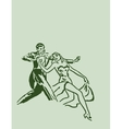 Dancing ballroom dance couple vector