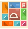Colored icons for school supplies with place for vector