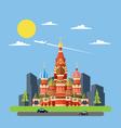 Flat design of russia castle vector