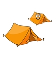 Two colorful orange tents vector