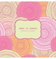 Doodle circle texture frame seamless pattern vector