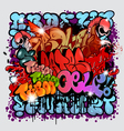 Graffiti street art elements vector