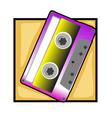 Retro tape clip art vector