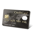 Gold credit card vector